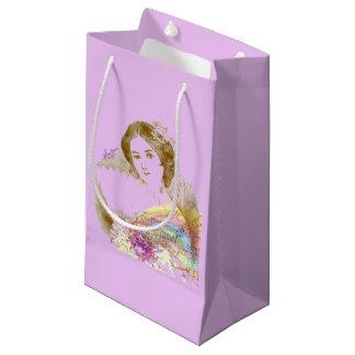 small Matteヴィンテージファンの女性ギフトバッグ スモールペーパーバッグ
