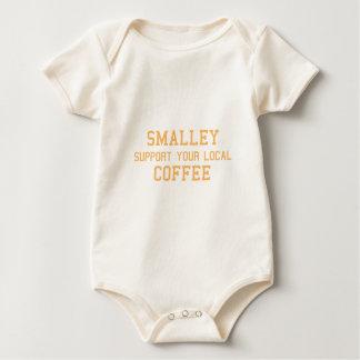 Smalleyのあなたのローカルコーヒーを支えて下さい ベビーボディスーツ