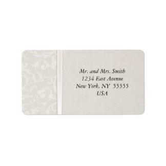 SmartEleganceの自然な結婚式のコレクション 宛名ラベル