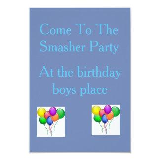 SmasherのパーティーInvatation カード