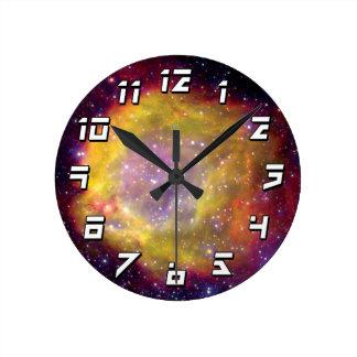 SMC WR7の連星の星雲-ハッブルの宇宙の写真 ラウンド壁時計