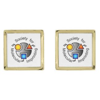 SMIのロゴの正方形のカフスボタンの金ゴールド ゴールド カフスボタン