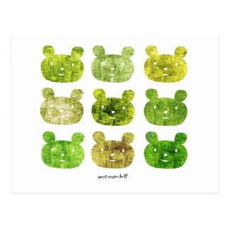 smile bear earth greens ポストカード