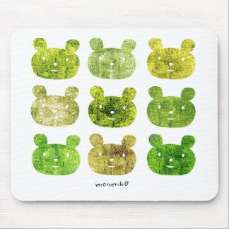 smile bear earth greens マウスパッド