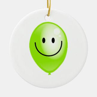 Smilieの緑の気球 セラミックオーナメント