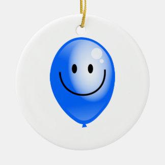 Smilieの青い気球 セラミックオーナメント