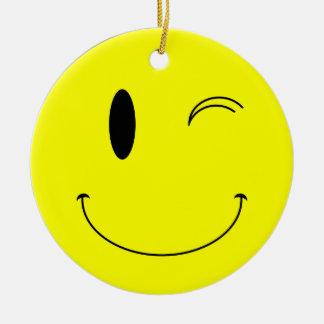 SmilieをまばたきさせるKRWは倍にオーナメント味方しました直面します セラミックオーナメント