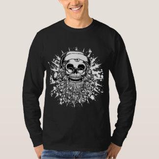 Smilinサンタのスカル- bw tシャツ