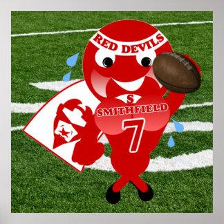 Smithfieldの赤い悪魔のフットボールポスター ポスター