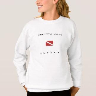 Smittysの入江のアラスカのスキューバ飛び込みの旗 スウェットシャツ