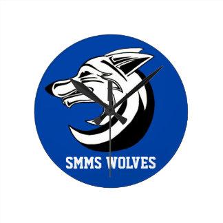SMMSのオオカミの時計2 ラウンド壁時計