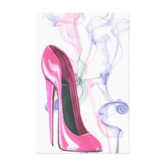Smokinのピンクの小剣の靴のキャンバスプリント キャンバスプリント