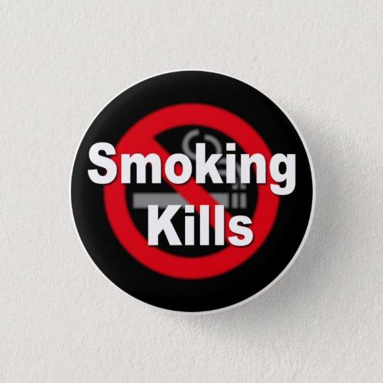 Smoking Kills 3.2cm 丸型バッジ