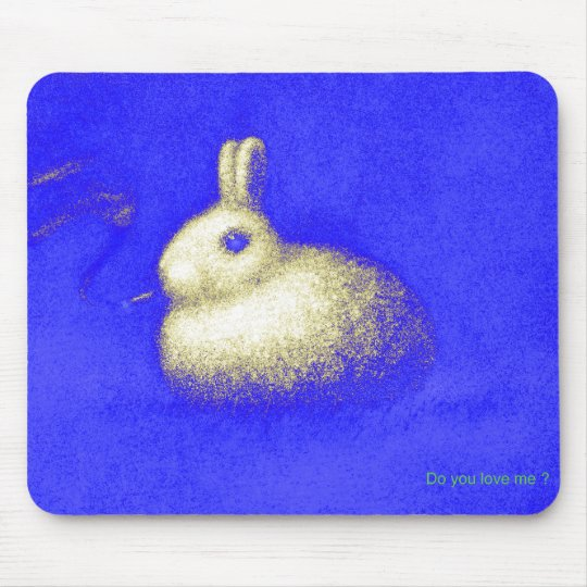 Smoking Rabbit マウスパッド