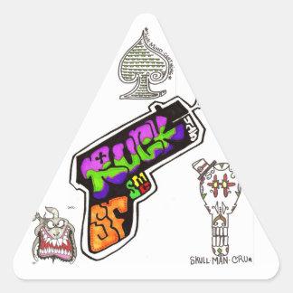 smorgasbordのステッカー 三角形シール