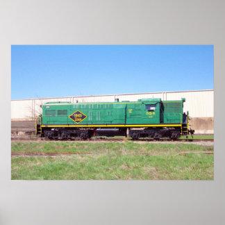 SMSの鉄道ラインBaldwin AS616 # 554 ポスター