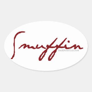 Smuffinのステッカー 楕円形シール