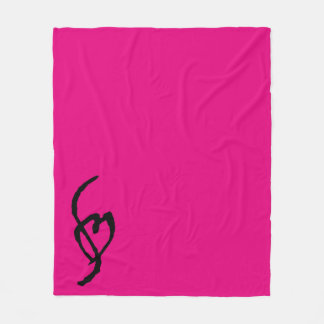 Smuffinのポルノの印のフリースブランケットの熱いショッキングピンク フリースブランケット
