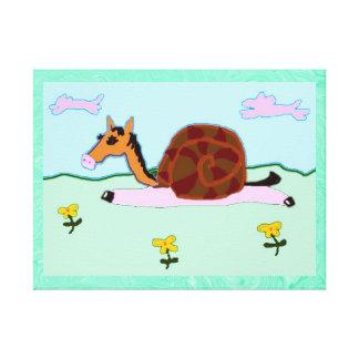 SnailyのHorseyペネロペ キャンバスプリント