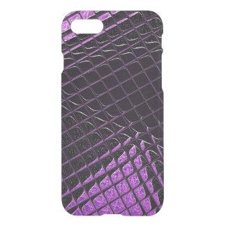 Snakeskinの紫色および黒い光沢がある規模の効果 iPhone 8/7 ケース