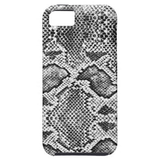 Snakeskin黒く及び白いパターン iPhone 5 Case-Mate ケース