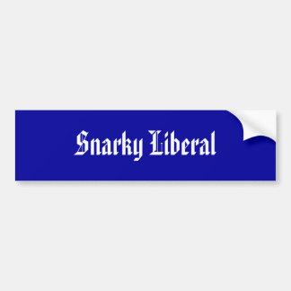 Snarkyの自由主義者 バンパーステッカー