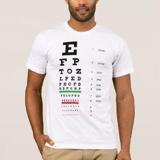Snellenの視力検査表のアメリカの服装のTシャツ Tシャツ