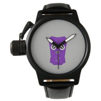 Snoomiesのカスタムで黒いヴィンテージ革腕時計 腕時計
