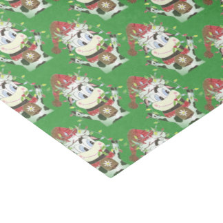 Snowbell the cow Christmas green tissue paper 薄葉紙