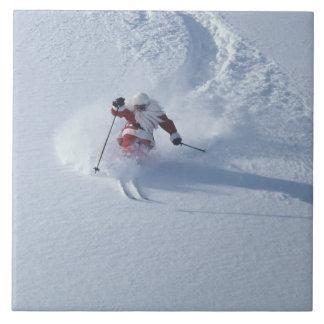 Snowbirdのスキー場、Wasatchのサンタのスキー タイル