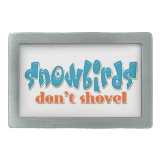 """Snowbirds""はベルトの留め金をシャベルで掘りません 長方形ベルトバックル"
