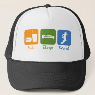 SnowBoardChickは睡眠板を食べます キャップ
