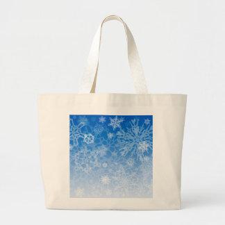 Snowcatcherの雪片のブリザードのバッグ ラージトートバッグ