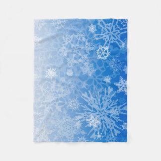 Snowcatcherの雪片のブリザード毛布 フリースブランケット