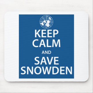 Snowden穏やか、保存保って下さい マウスパッド