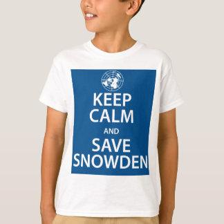 Snowden穏やか、保存保って下さい Tシャツ