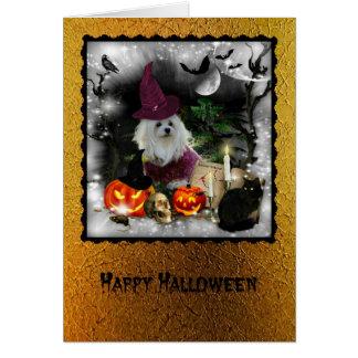 Snowdropマルタのハロウィンの挨拶状 カード