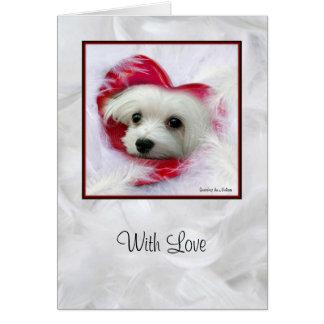 Snowdropマルタの挨拶状(愛と) カード