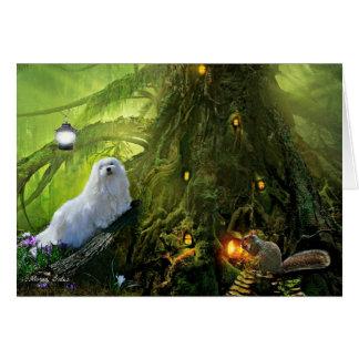 Snowdropマルタの空白のな挨拶状 カード