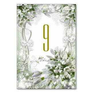 SnowDropsの結婚式の座席表 カード