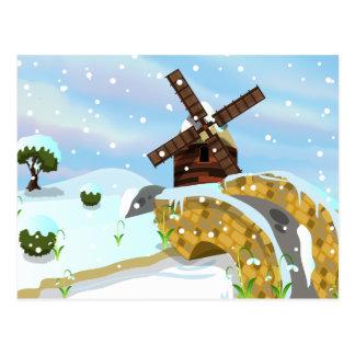 Snowdropsの風車 ポストカード