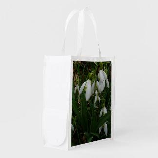 Snowdrops I (Galanthus)の白い春の花 エコバッグ
