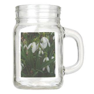 Snowdrops I (Galanthus)の白い春の花 メイソンジャー