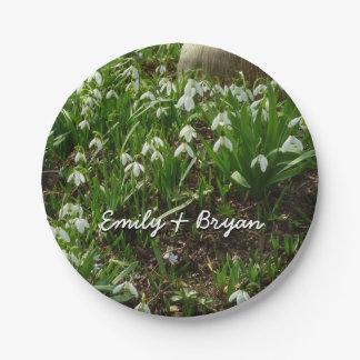 Snowdrops II (Galanthus)の白い春の花 ペーパープレート