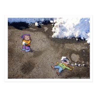 snowfight ポストカード