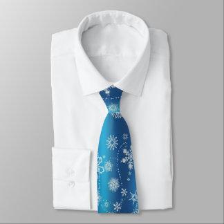 Snowflakes on Blue オリジナルネクタイ