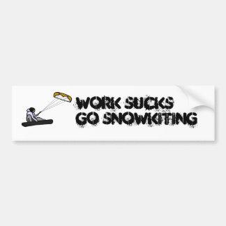 snowkiting仕事の最低 バンパーステッカー