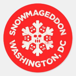 SNOWMAGEDDONワシントンD.C.、 ラウンドシール