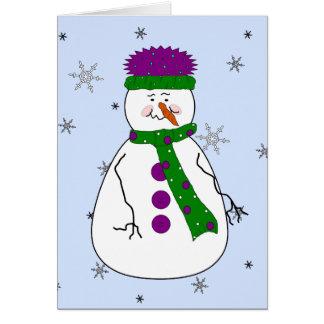 Snowmanの降雪の雪のお洒落な原住民氏 カード