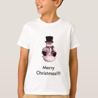 snowman10のメリークリスマス!!! tシャツ